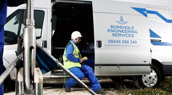 image of borehole engineering services van