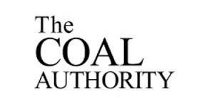 The logo of the coal authority.