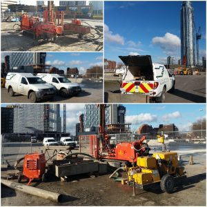 Site Investigation, Nine Elms, London, Geobore S