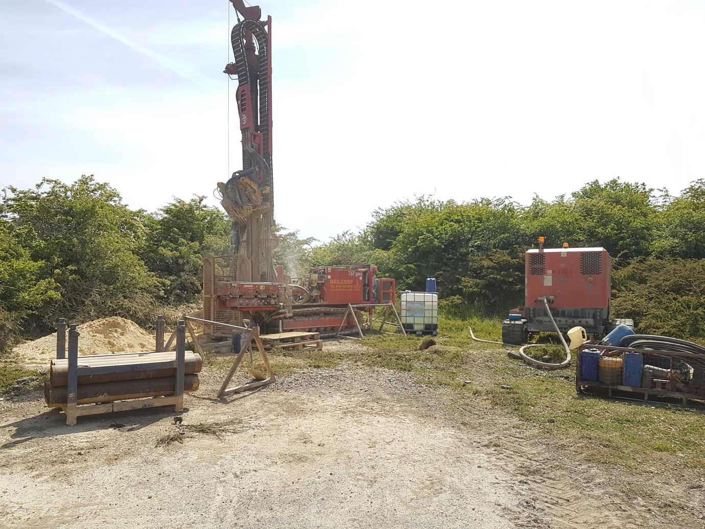Monitoring Wells Installation | Disused Tut Hill Quarry