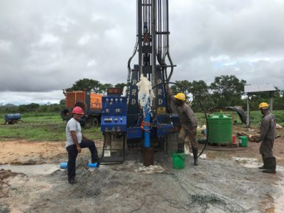 Borehole drilling in Malawi